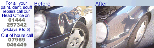 Bumper Repairs Scuffs Eastbourne Mobile Car Scratches